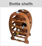 bottle shelfs