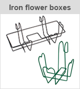 iron flower boxes