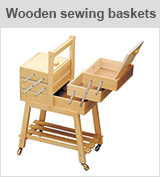 wooden sewing baskets